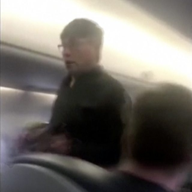 Video of police officers dragging the passenger from the flight sparked uproar on social media