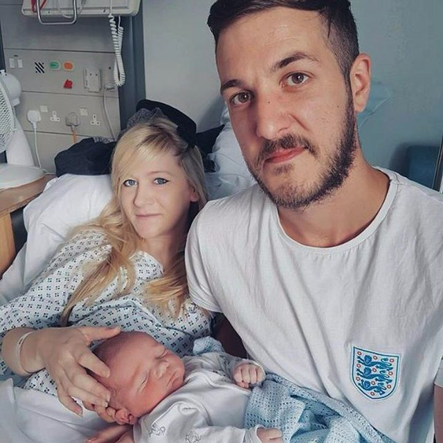 Chris Gard and Connie Yates with their son Charlie Gard (Family Handout/PA)