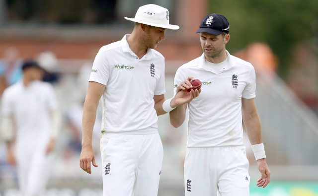England's James Anderson, right, and Stuart Broad, will not play in the next county match (Martin Rickett/PA)