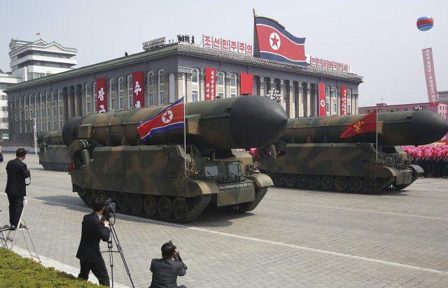 Kim Jong-un oversees display of N Korea military force