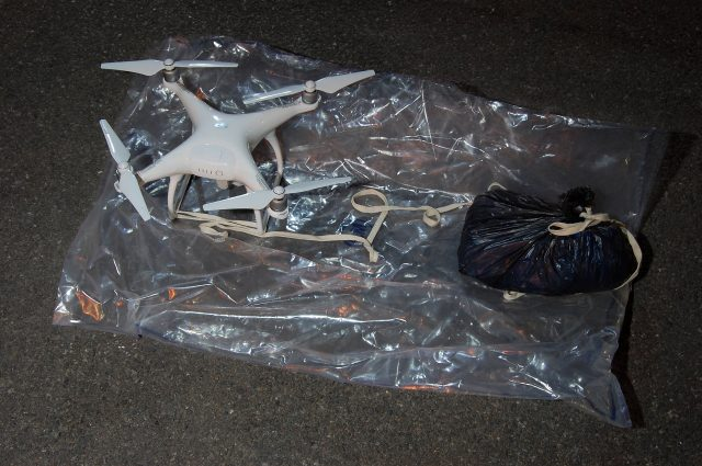 A drone found carrying drugs and mobile phones near HMP Pentonville (Metropolitan Police/PA)