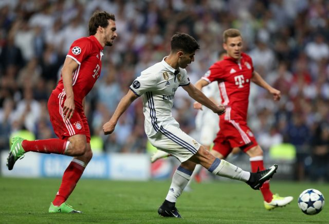 Asensio Marco scores his side's fourth (Mike Egerton/Empics)