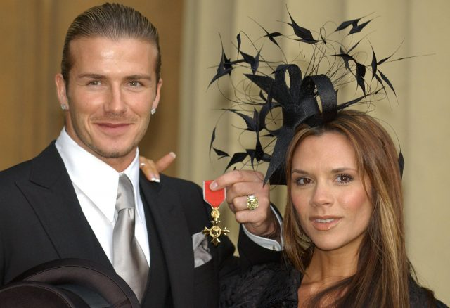 David Beckham was made an OBE in 2003