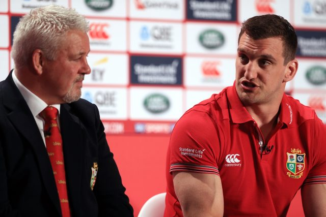 Head coach Warren Gatland and captain Sam Warburton during the squad announcement