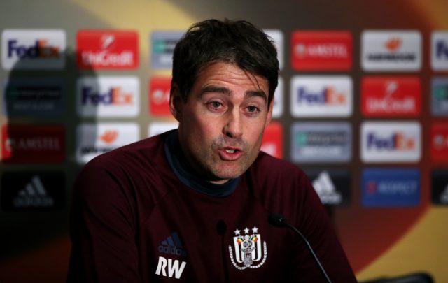 Anderlecht head coach Rene Weiler
