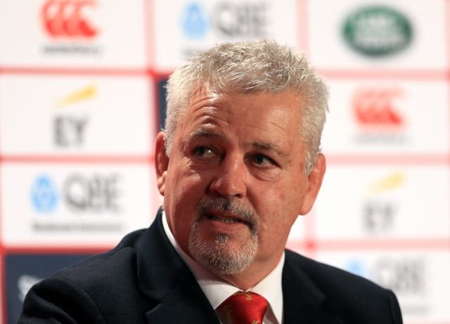 Warren Gatland during the squad announcement