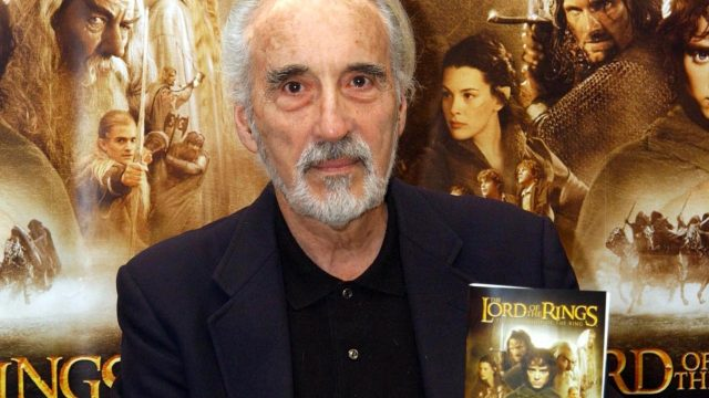 Christopher Lee during a signing of the Lord Of The Rings DVD