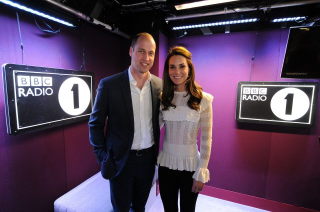 The Duke and Duchess of Cambridge visiting BBC Radio 1 where the couple promoted their Heads Together mental health campaign (Sarah Jeynes/BBC/PA)