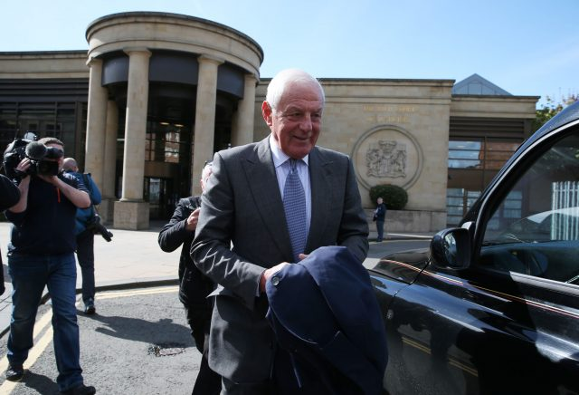 Walter Smith leaves the High Court in Glasgow