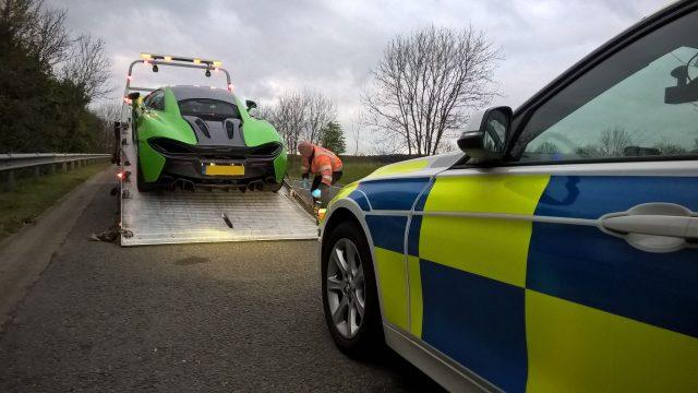 United Kingdom police seize Ferrari, Lamborghini and McLaren for racing