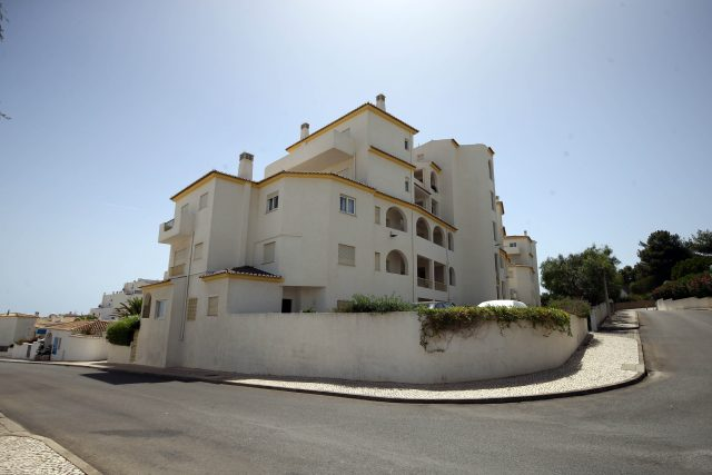 The apartment block in Praia Da Luz, Portugal where Madeleine went missing (Steve Parsons/PA)