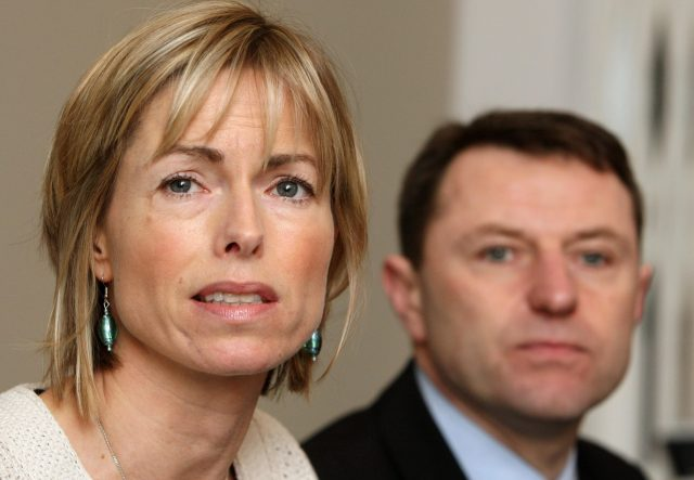 The post was signed by Kate and Gerry McCann (Dominic Lipinski/PA)