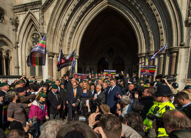 Claire Blackman outside the Royal Courts of Justice. (Dominic Lipinski/PA)