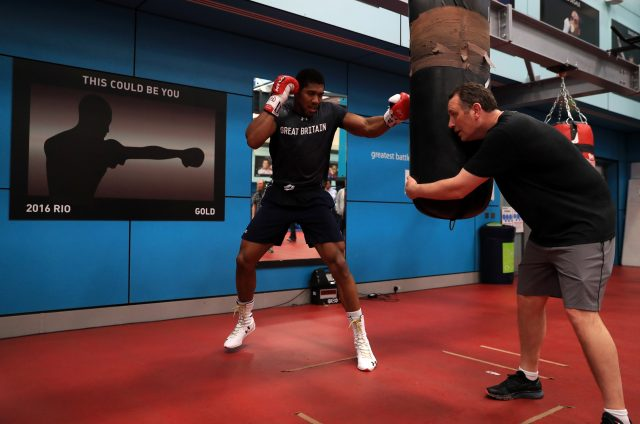 Anthony Joshua training