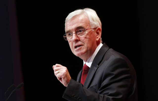 'No stealth taxes' pledge issued by shadow chancellor John McDonnell
