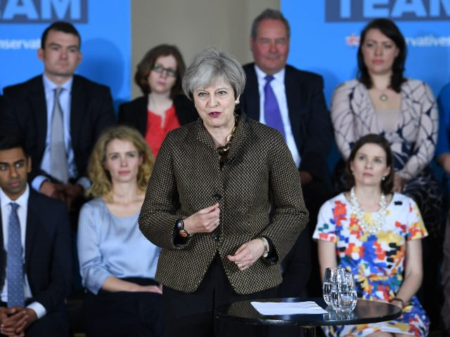 Theresa May meets Conservative election candidates in Harrow, north-west London (Stefan Rousseau/PA)