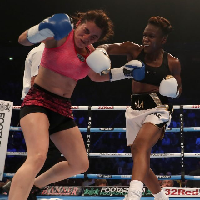 Nicoal Adams beat Virginie Carcamo in her first professional fight last month (Simon Cooper/PA)