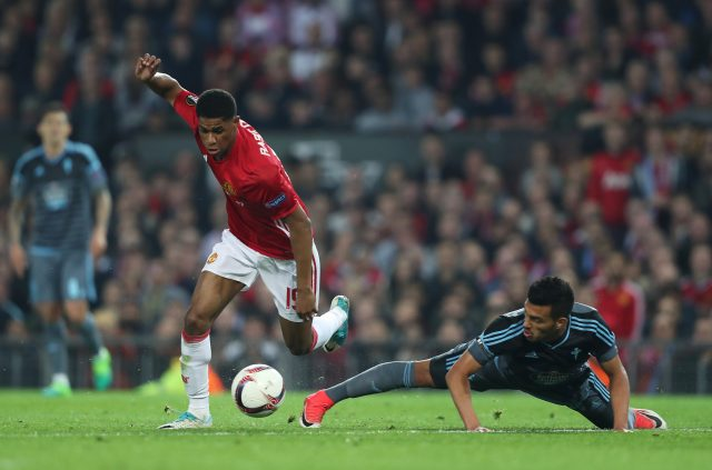 Rashford in full flow. (David Davies/EMPICS Sport)
