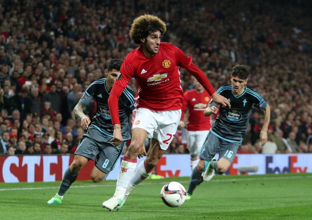 Marouane Fellaini in action. (David Davies/EMPICS Sport)