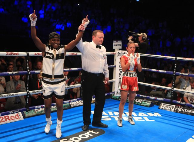 Nicola Adams stopped Mexico's Maryan Salazar in the third round