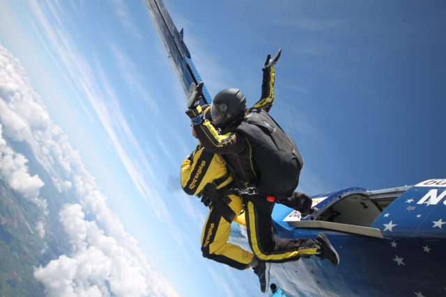 Day veteran, 101, 'over the moon' after claiming skydive record