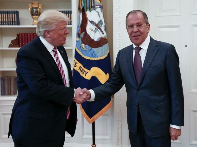 Donald Trump meeting with Russian Foreign Minister Sergey Lavrov