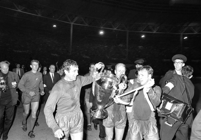Manchester United won the European Cup for the first time in 1968