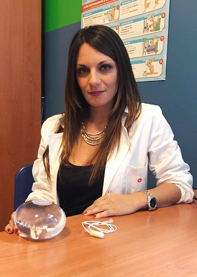 Dr Roberta Ienca, with a swallowable balloon (University of Rome/PA)