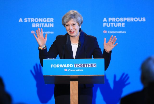 May pledges to tackle 'giant challenges' with Tory manifesto