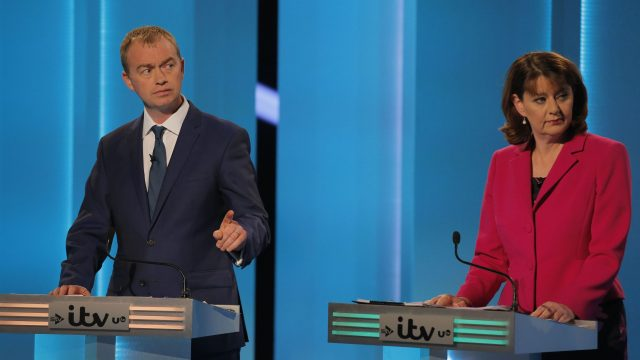 Tim Farron and Leanne Wood