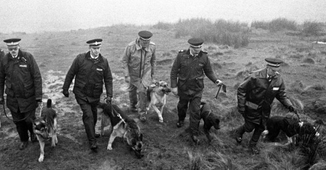 Police using specially trained sniffer dogs on Saddleworth Moor