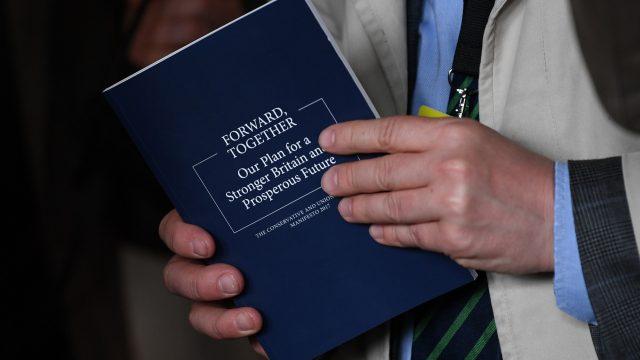 Conservative manifesto (Stefan Rousseau/PA)
