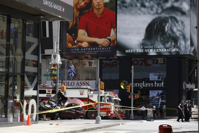 The crash happened in popular Times Square (Seth Wenig/AP)