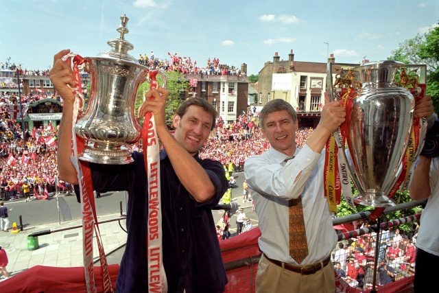Tony Adams and Arsene Wenger