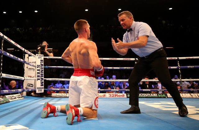Liam Walsh after being knocked (Steven Paston/PA)