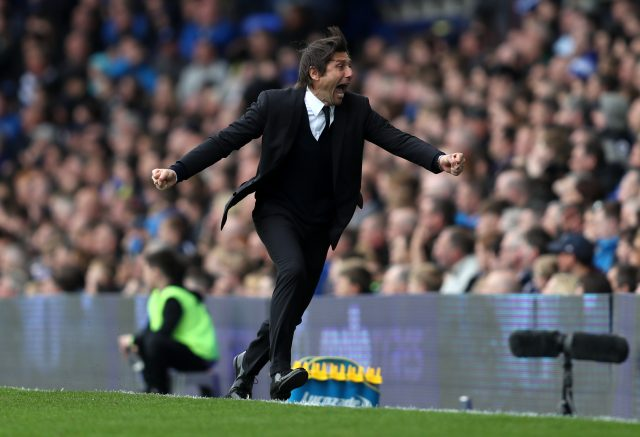 Chelsea manager Antonio Conte has been an animated figure on the touchline