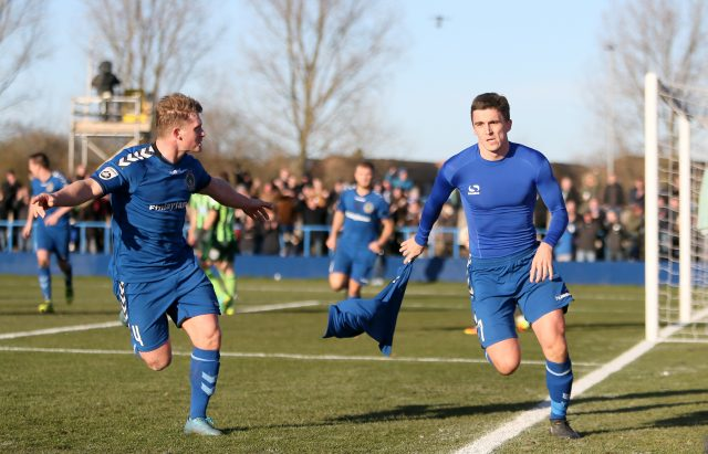 Curzon Ashton's Adam Morgan, right, is the joint leading scorer in the FA Cup this season (Richard Sellers/PA)