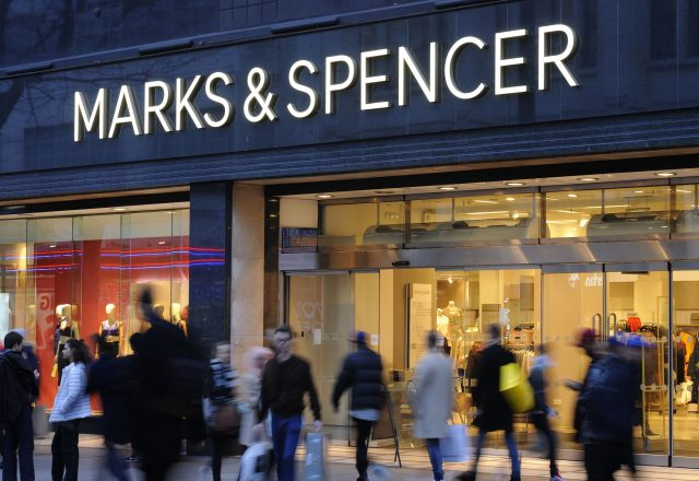 Clothing sales drive M&S profits down 10%