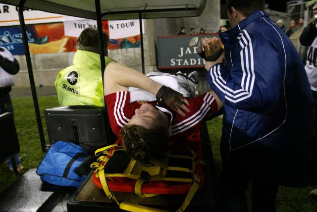 Brian O'Driscoll suffered a tour-ending shoulder injury