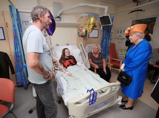 Britain's Queen Elizabeth visits Manchester bombing casualties