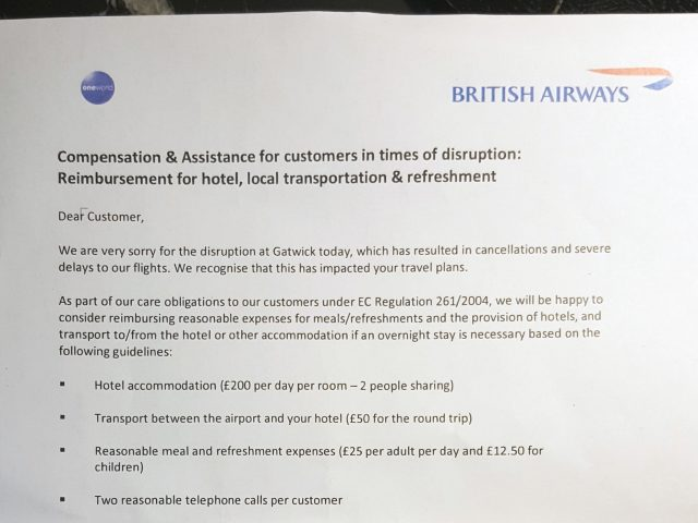 Ba could face huge compensation bill over stranded passengers bt a letter from british airways being handed to passengers helen williamspa altavistaventures Image collections
