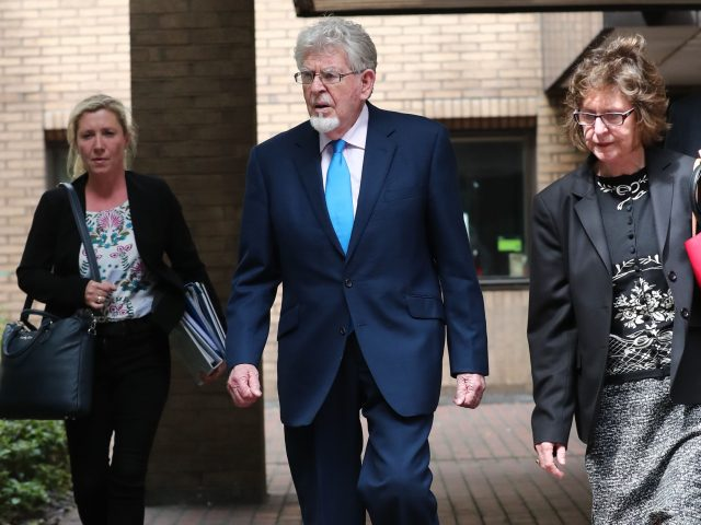 Rolf Harris leaves court (Gareth Fuller/PA)