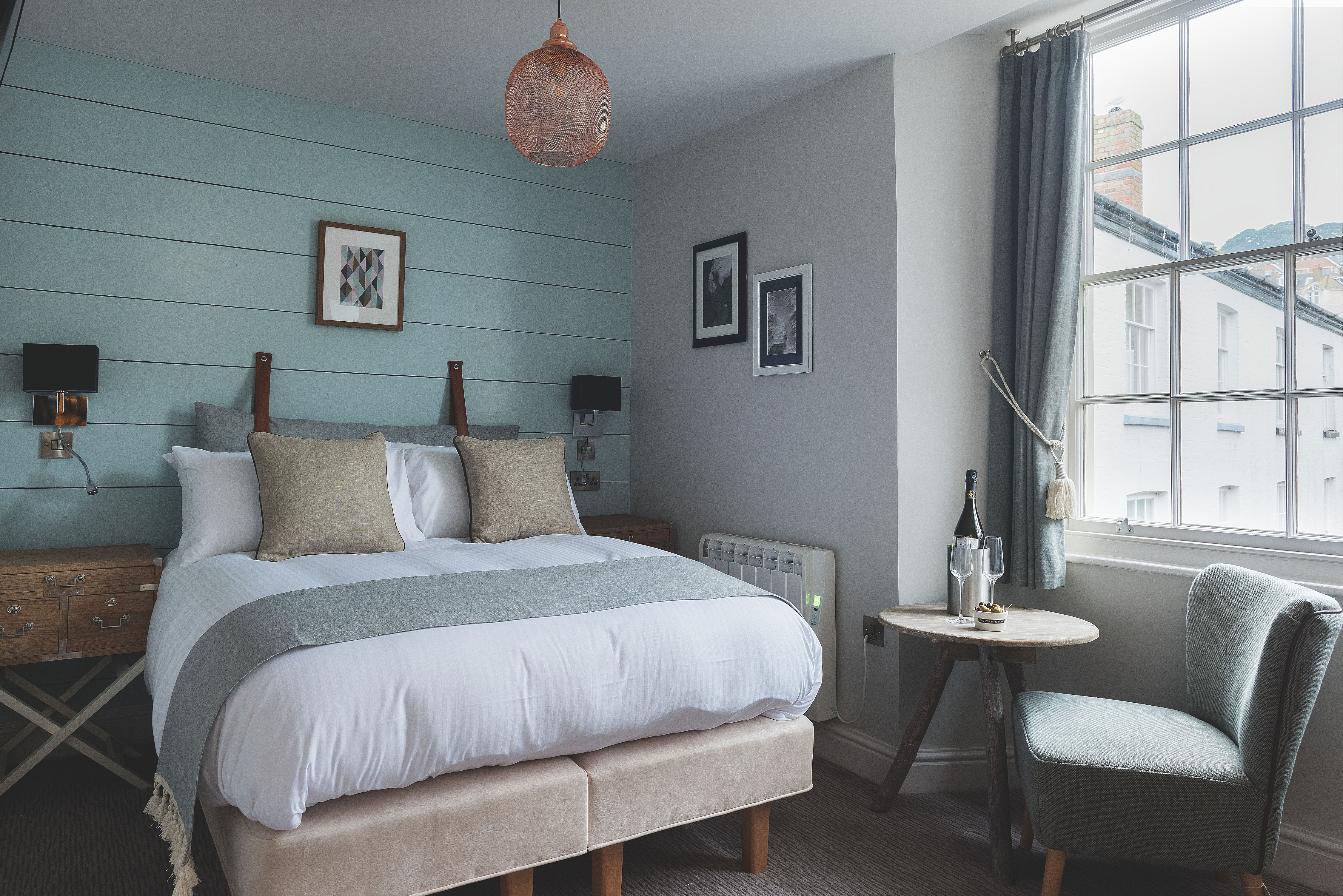 One of the new rooms at Havener's, Fowey (St Austell Brewery/PA)