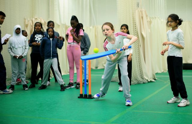 The project aims to encourage more girls to play cricket (Stephen Pond/Empics)
