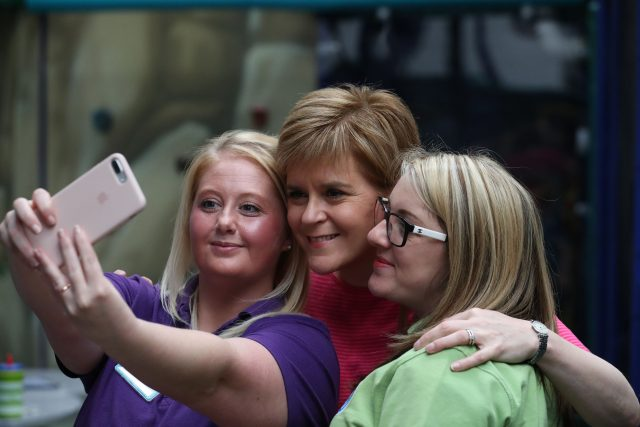 Nicola Sturgeon grilled over education record during election event