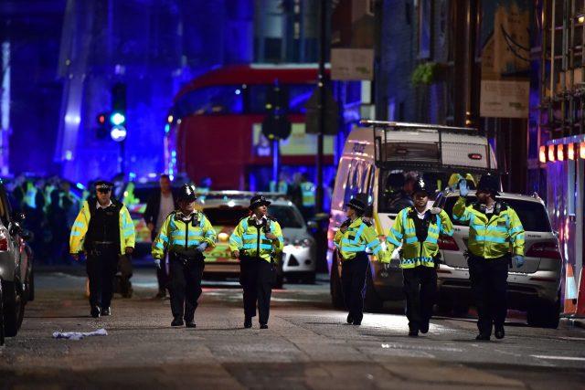 Police on Borough High Street