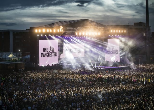 Ariana Grande's One Love Manchester concert gets under way