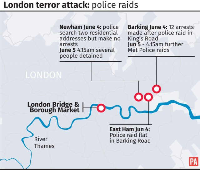 Police arrest east London man in connection with bridge attacks