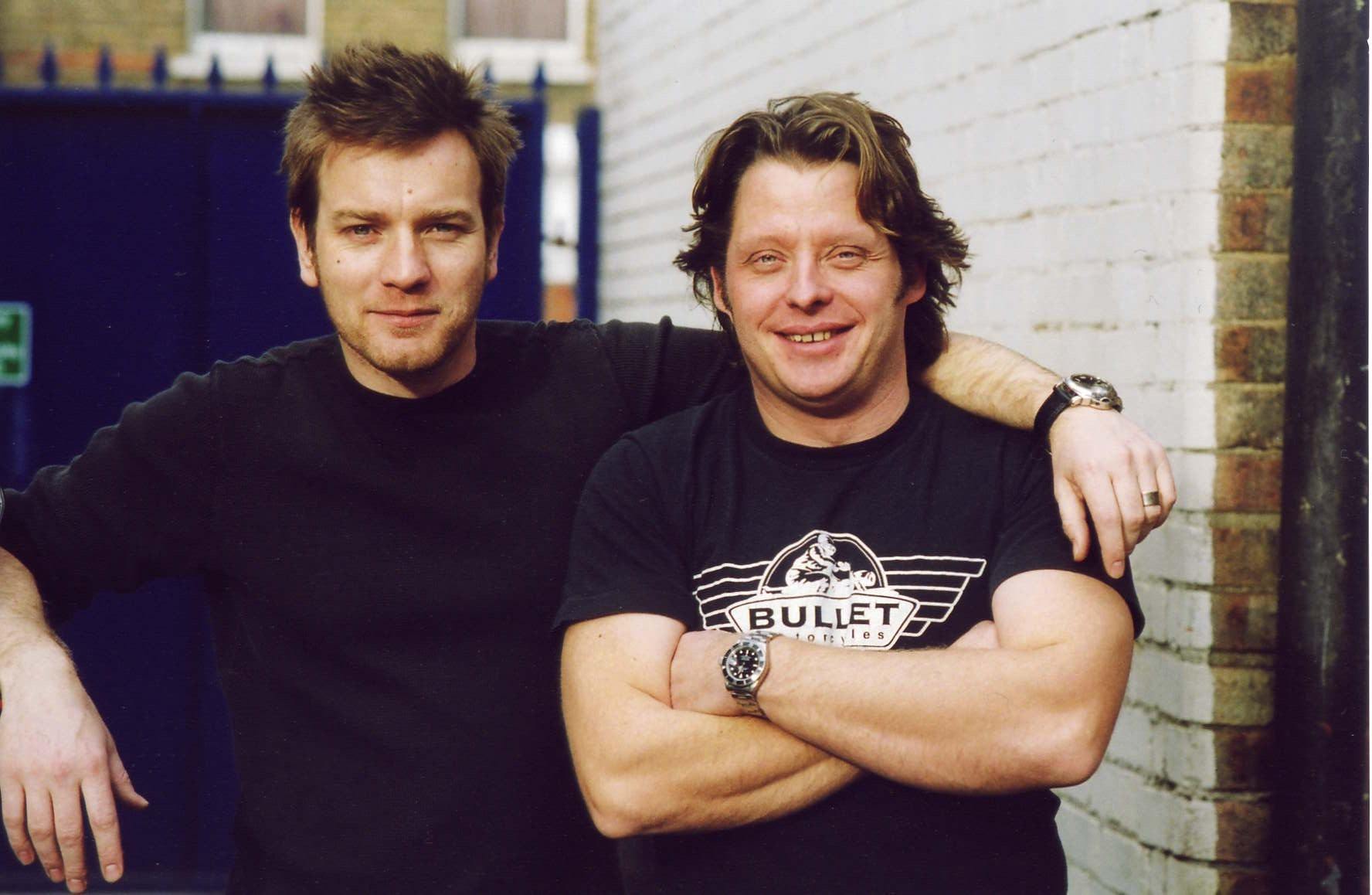 Ewan McGregor (left) with Charley Boorman (AA/PA)