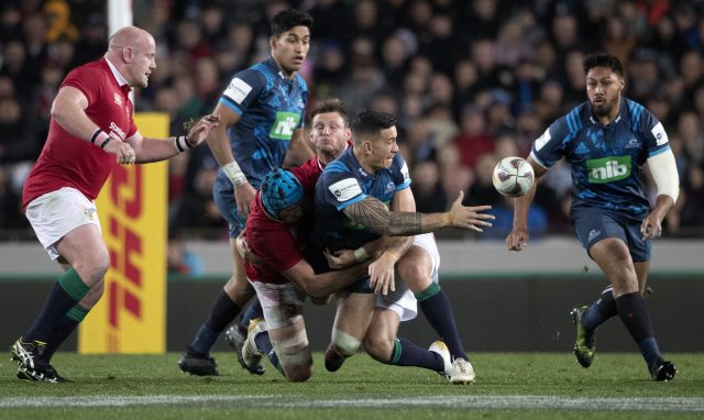 Late victor as Blues beat Lions in Auckland